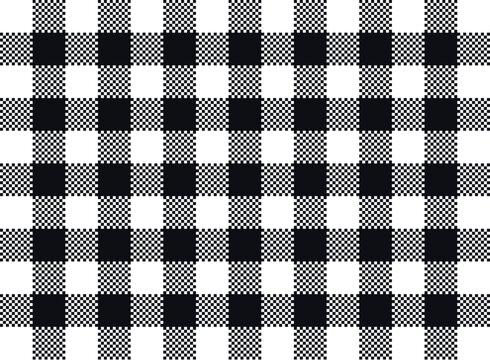 Vector plaid seamless pattern design black and white lumberjack buffalo