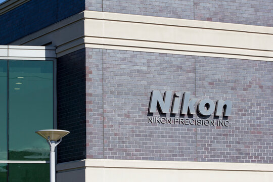 Belmont, CA, USA - Feb 29, 2020: Nikon Precision Inc. Belmont office in the Silicon Valley, California. The company offers sales, service, and customer support for Nikon photolithography systems.
