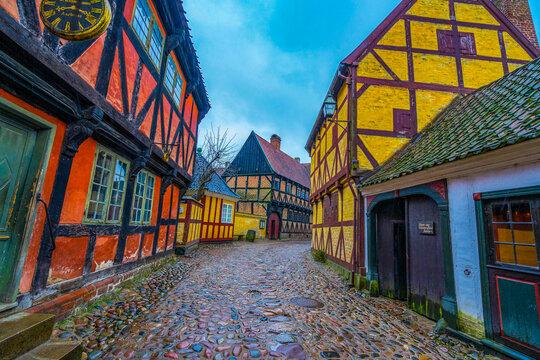 Old town of Aarhus, Denmark