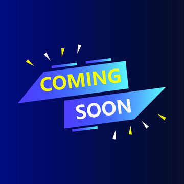 Coming soon square banner label design. Suitable for social media post and digital Promotion. Corporate business square banner template. Advertising banner tag layout. Blue social media post ad banner