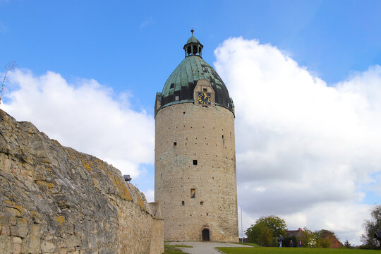 "The round tower ""Bergfried"" of Castle Neuenburg, Saxony-Anhalt, Germany"