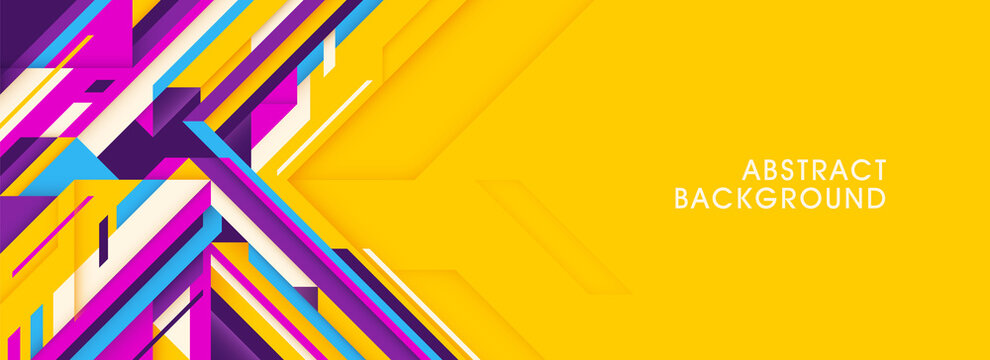 Colorful abstract background in futuristic style with lines. Vector illustration.