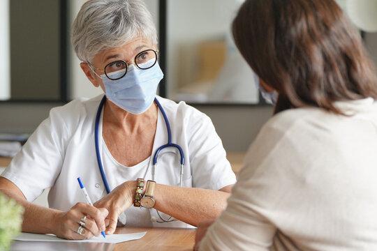 Patient at doctor's office - coronavirus