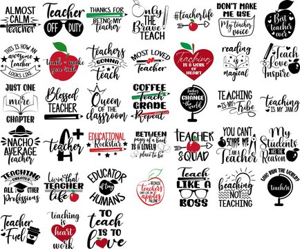 Set of quotes about teacher. Work quotes