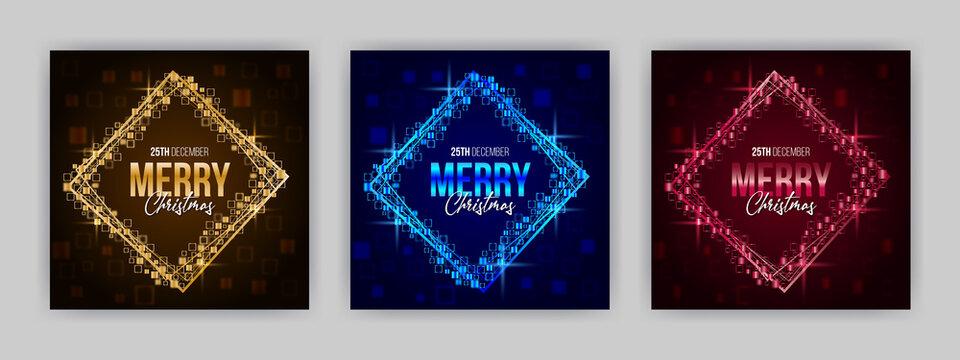 Merry Christmas Social Media Background Banner Template