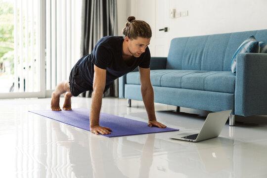 Online workout.