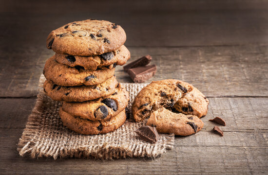 Tasty sweet chocolate chip cookies