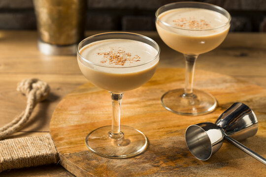 Boozy Refreshing Brandy Alexander Cocktail