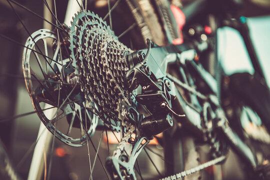 Bicycle Gears Shifting Close Up Biking Theme