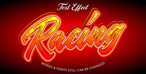 Wall Mural - Racing editable font effect