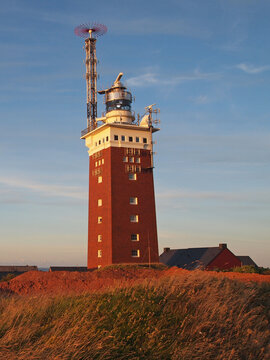 The lighthouse of Heligoland. It was originally a flak tower (built in WW2). It has the highest luminosity of all German lighthouses.