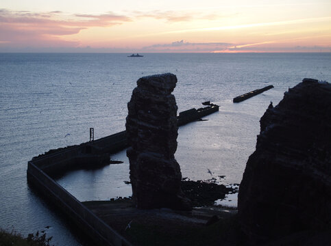 Lange Anna (Tall Anna) is a 47-metre (154 ft) high sea stack of Buntsandstein at the North Sea island of Heligoland, Germany