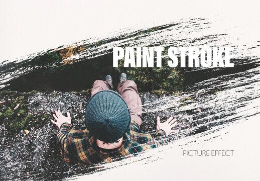 Paint Brush Stroke Photo Effect