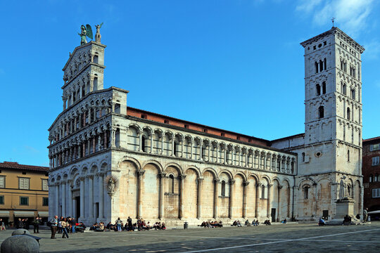 San Michele in Foro, a Roman Catholic basilica church in Lucca, Tuscany, Italy