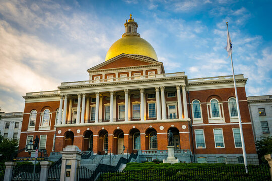 The Massachusetts State House atop Beacon Hill