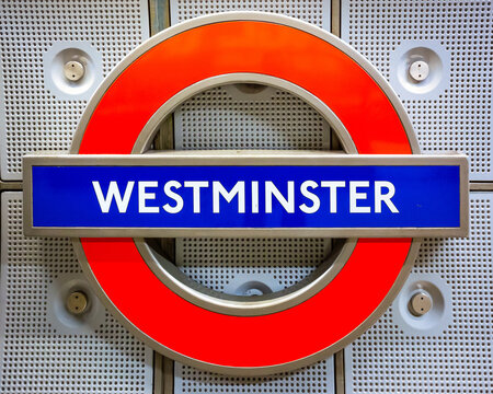 London, UK - May 21 2018: Westminster Underground Station situated in Zone 1 on the Jubilee, District and Circle lines
