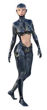 Humanoider weiblicher Roboter, Freisteller