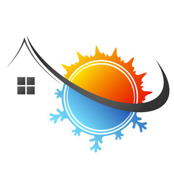 House snowflake cooling and sun heating design for business