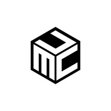 MCU letter logo design with white background in illustrator, cube logo, vector logo, modern alphabet font overlap style. calligraphy designs for logo, Poster, Invitation, etc.