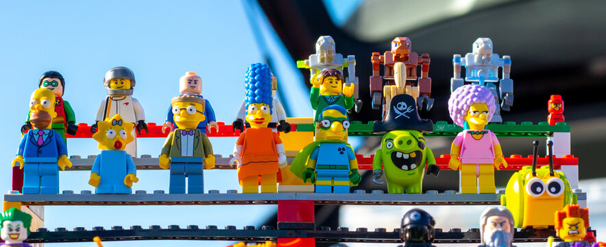A grouping of Lego figures