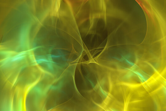 Abstract fractal background. Space and science background, 3D illustration