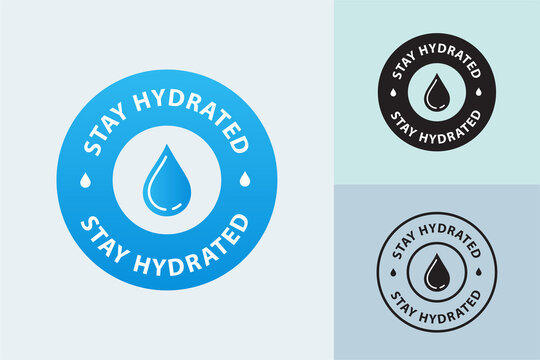 stay hydrated seal, vector illustration, Drink More Water