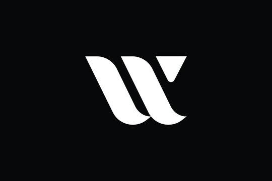WV logo letter design on luxury background. logo monogram initials letter concept. WV icon logo design. elegant and Professional letter icon design on black background. W V WV