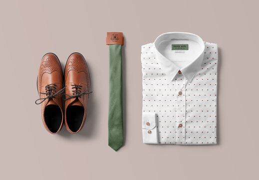 Shirt and Tie Mockup