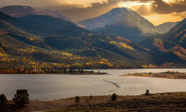 Sunset in Twin Lakes, Colorado