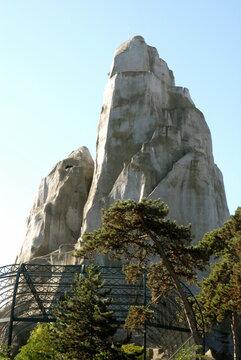 Rocher du parc zoologique de Vincennes, ville de Vincennes, département du Val de Marne, France