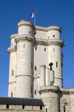 Donjon du château de Vincennes, ville de Vincennes, département du Val de Marne, France