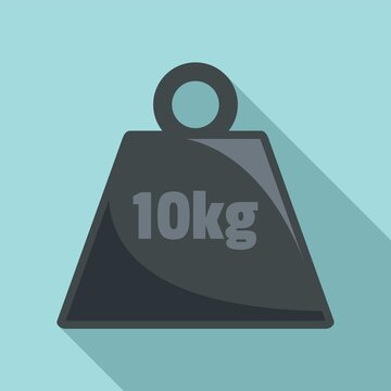 10 kg force weight icon. Flat illustration of 10 kg force weight vector icon for web design