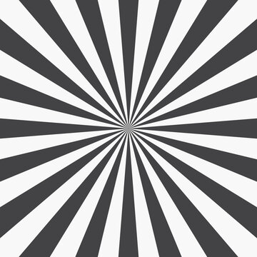 Radial Rays Background. Retro Sunburst Background Template. Vector Illustration