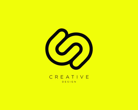 Creative Minimalist CS CD Logo Design with Letters C, S and D