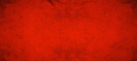 Dark black red stone concrete paper texture background banner, with space for text