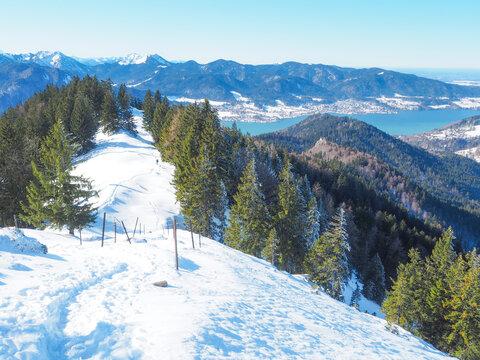 Winterwandern Tegernsee - Baumgartenschneid