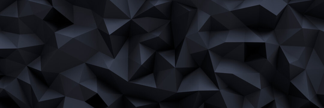 Schwarzer Low Poly Background Header