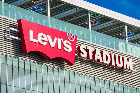 Levi's Stadium sign on Levi's Stadium home of San Francisco 49ers of the National Football League - January, 2020