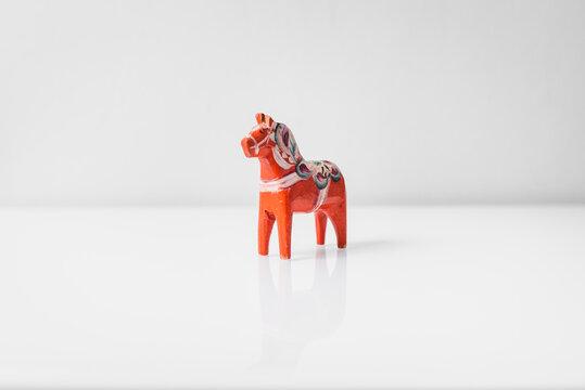 A handmade swedish Dala horse