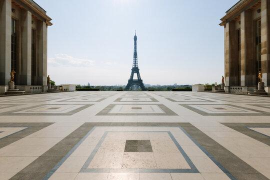 Eiffel Tower in Paris during lockdown
