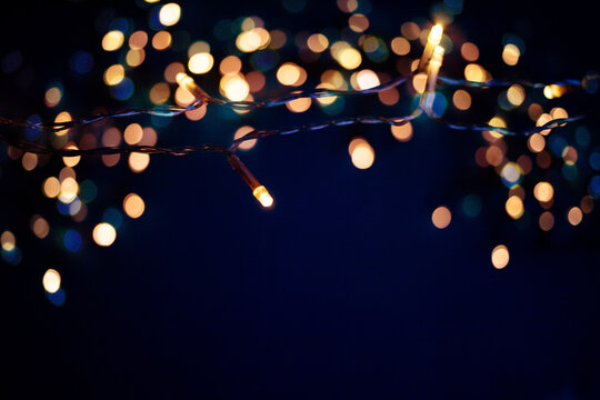 colorful christmas lights holiday background