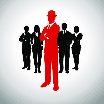 British Leader of a successful executive team. A successful executive team led by a great British leader.