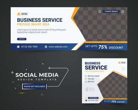 Business facebook cover, Corporate social media post  template design, Template banner design for social  media network, Template banner design for social media post, social media post, header.