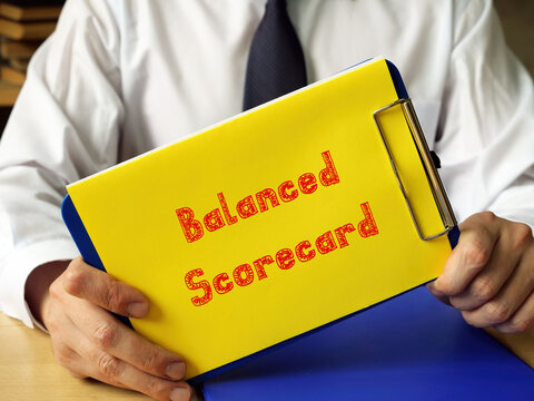 Balanced Scorecard sign on the piece of paper.