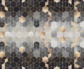 Geometryczna abstrakcja sześciokątów