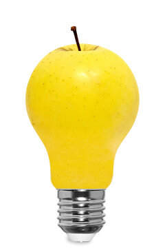 Food Art, Apple shaped light bulb