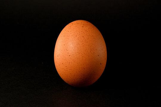 Food Art, egg on a black background