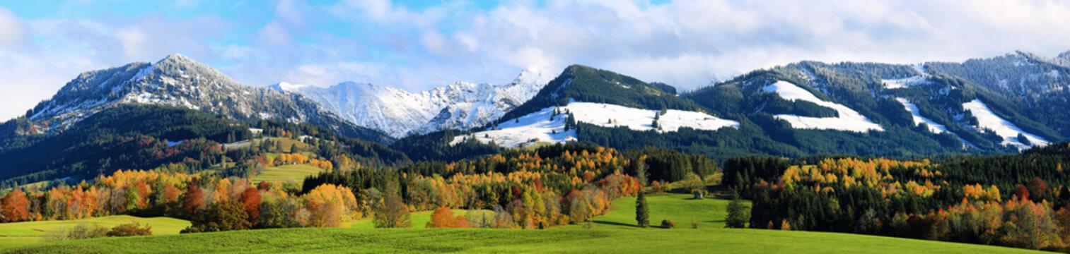 Allgäu - Herbst - Panorama - malerisch - Berge