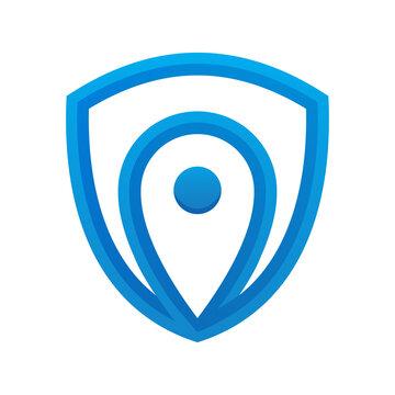 Pin Shield logo design template