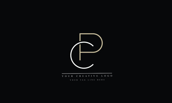 PC, CP, Letter Logo Design with Creative Modern Trendy Typography